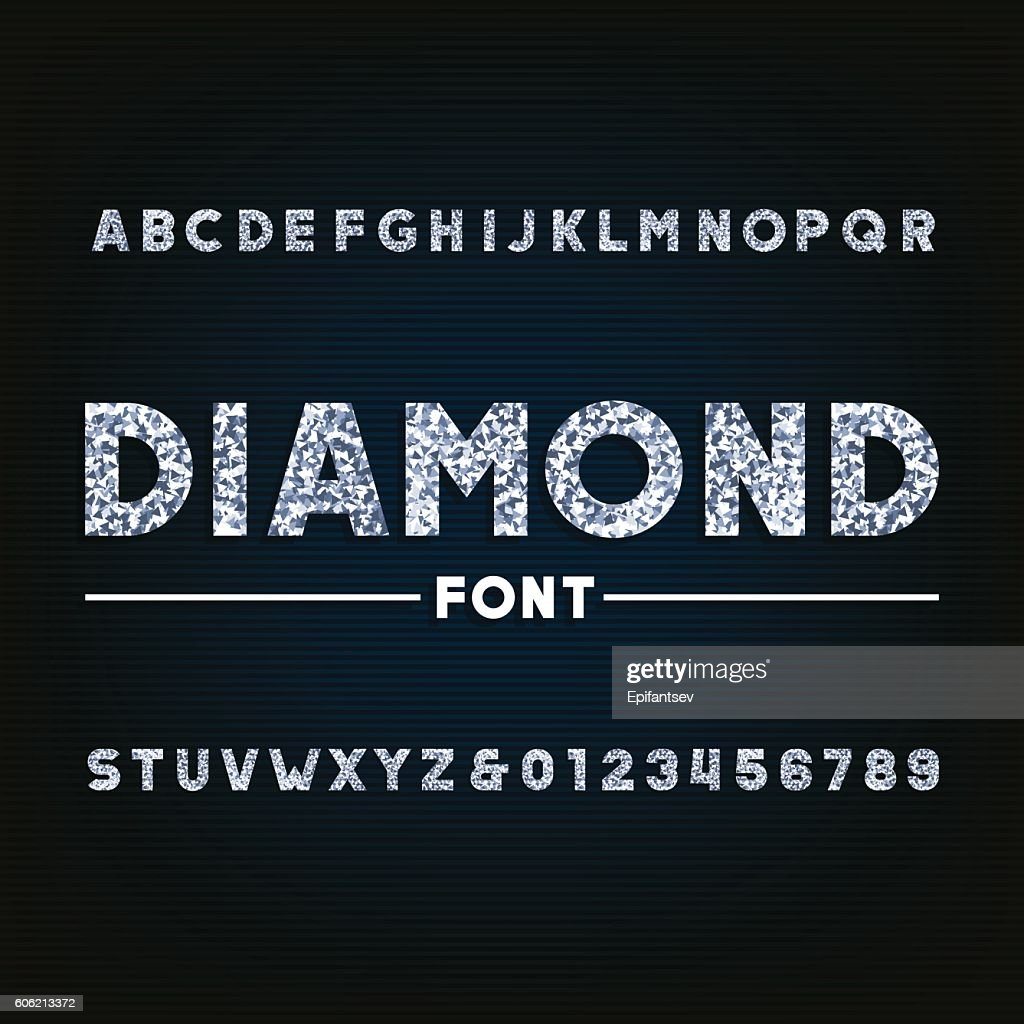 Diamond alphabet font
