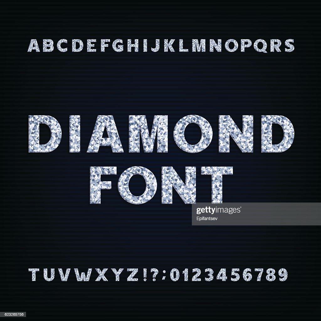Diamond alphabet font