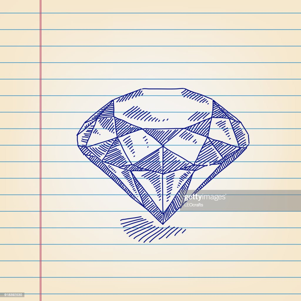 diamond drawing on lined paper high res vector graphic getty images diamond drawing on lined paper high res vector graphic getty images