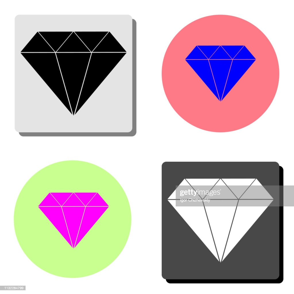 diamond. flat vector icon