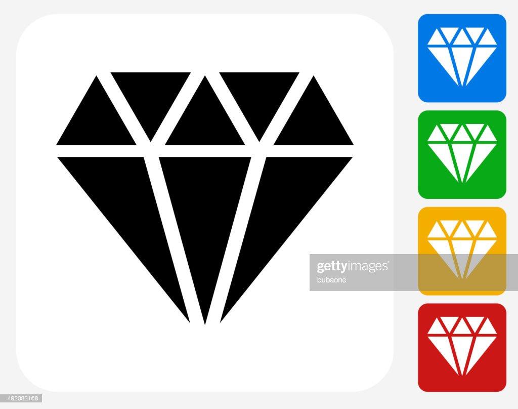 Diamond Icon Flat Graphic Design