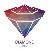 Diamond Icon. Jewerly Logo