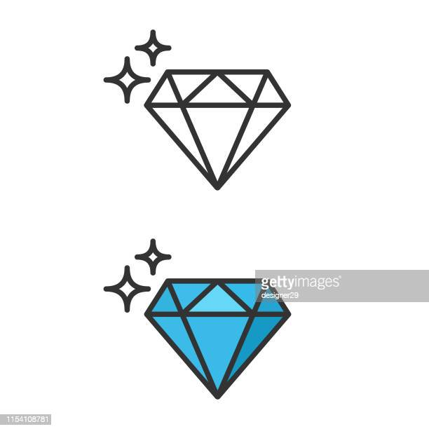 stockillustraties, clipart, cartoons en iconen met diamant icoon. - diamant