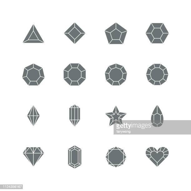Diamond icon,gemstone symbol