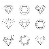 Diamond  icons set, design