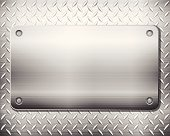 diamond metal background and plate