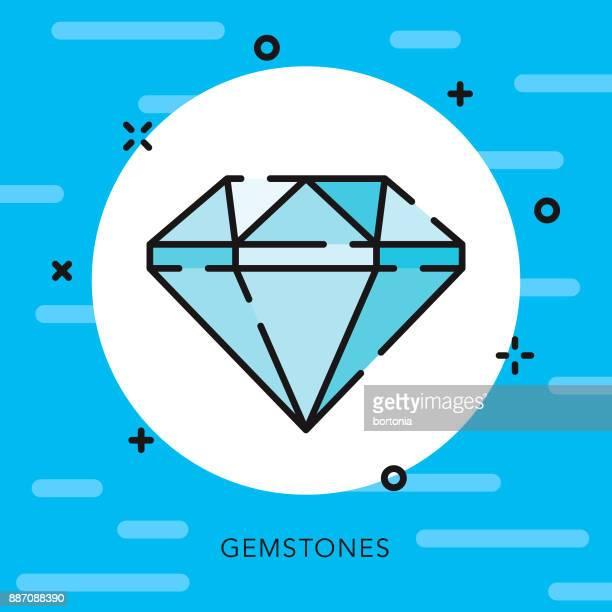diamond open outline banking & finance icon - diamond shapes stock illustrations, clip art, cartoons, & icons
