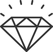 Diamond outline icon