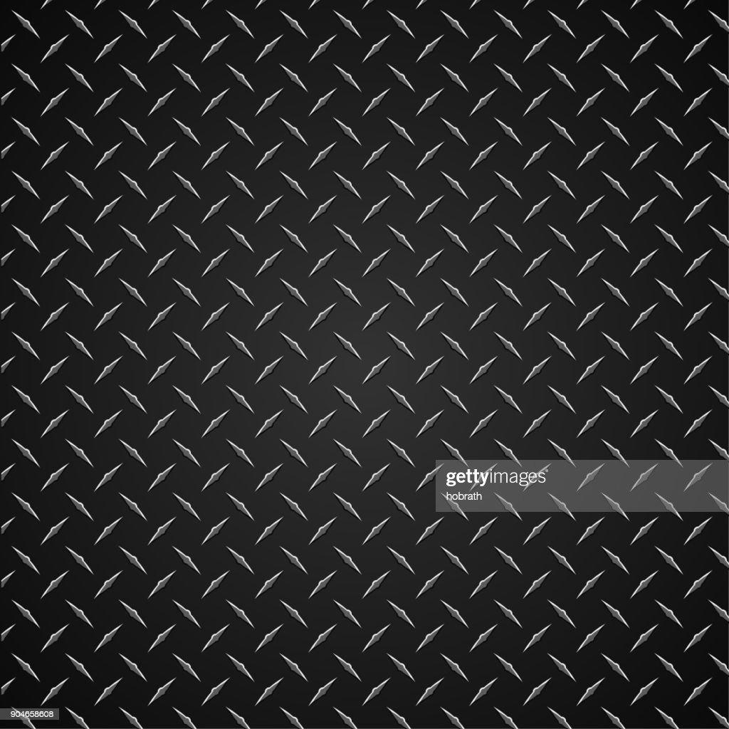 Diamond Plate Realistic Vector Graphic Illustration
