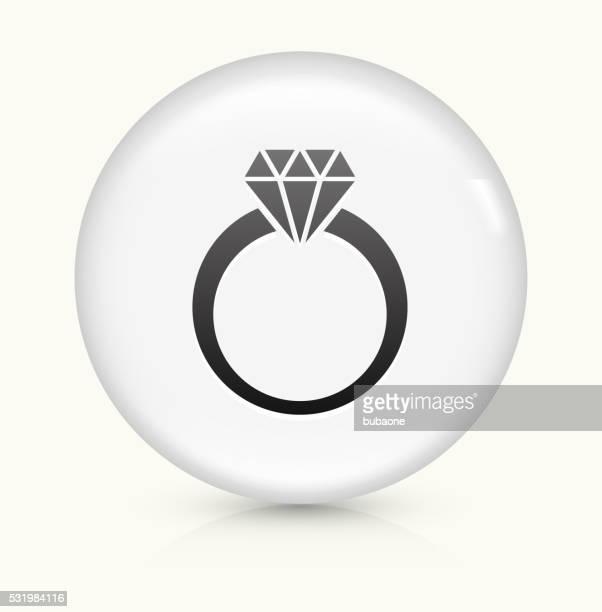 Diamond Ring icon on white round vector button