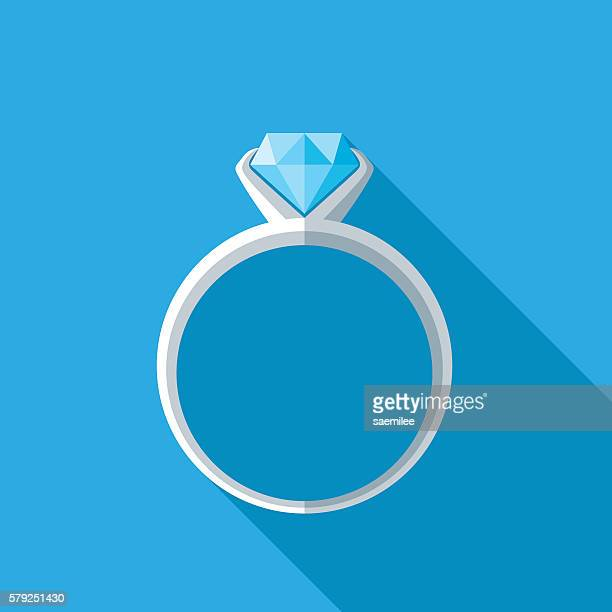 diamond ring icon - ring stock illustrations