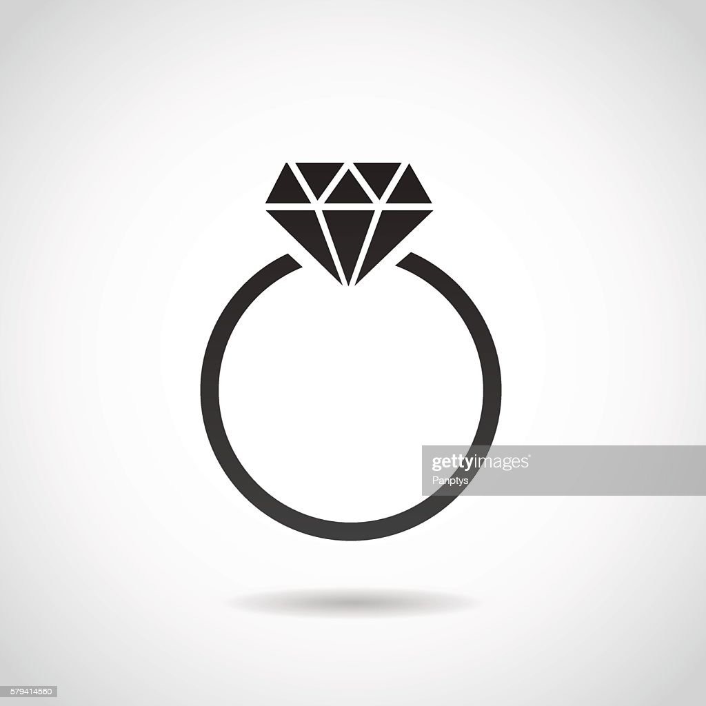 Diamond ring icon.