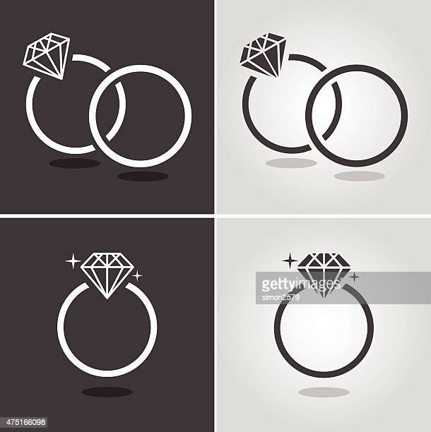 diamond ring symbol - ring stock illustrations