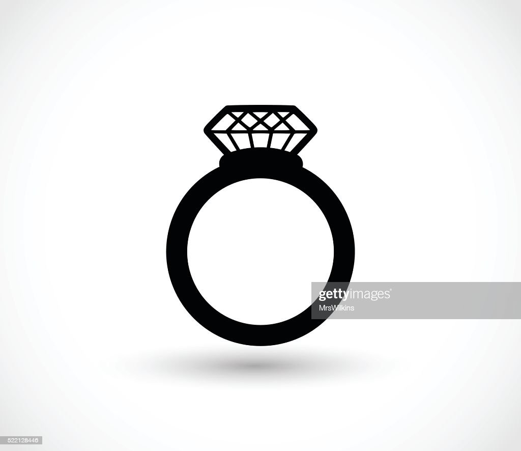 Diamond Ring Vector Illustration High Res Vector Graphic Getty Images