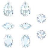 Diamond Set Isolated Objects
