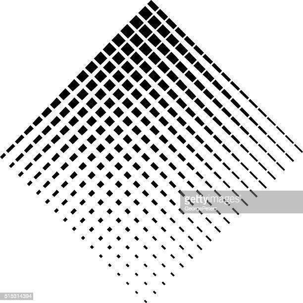 diamond shape halftone pattern - nanotechnology stock illustrations, clip art, cartoons, & icons