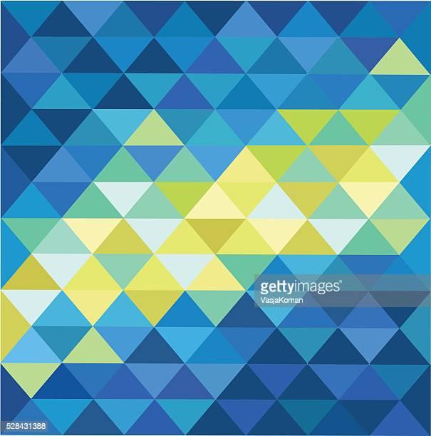 Diamond Shaped Background - Blue