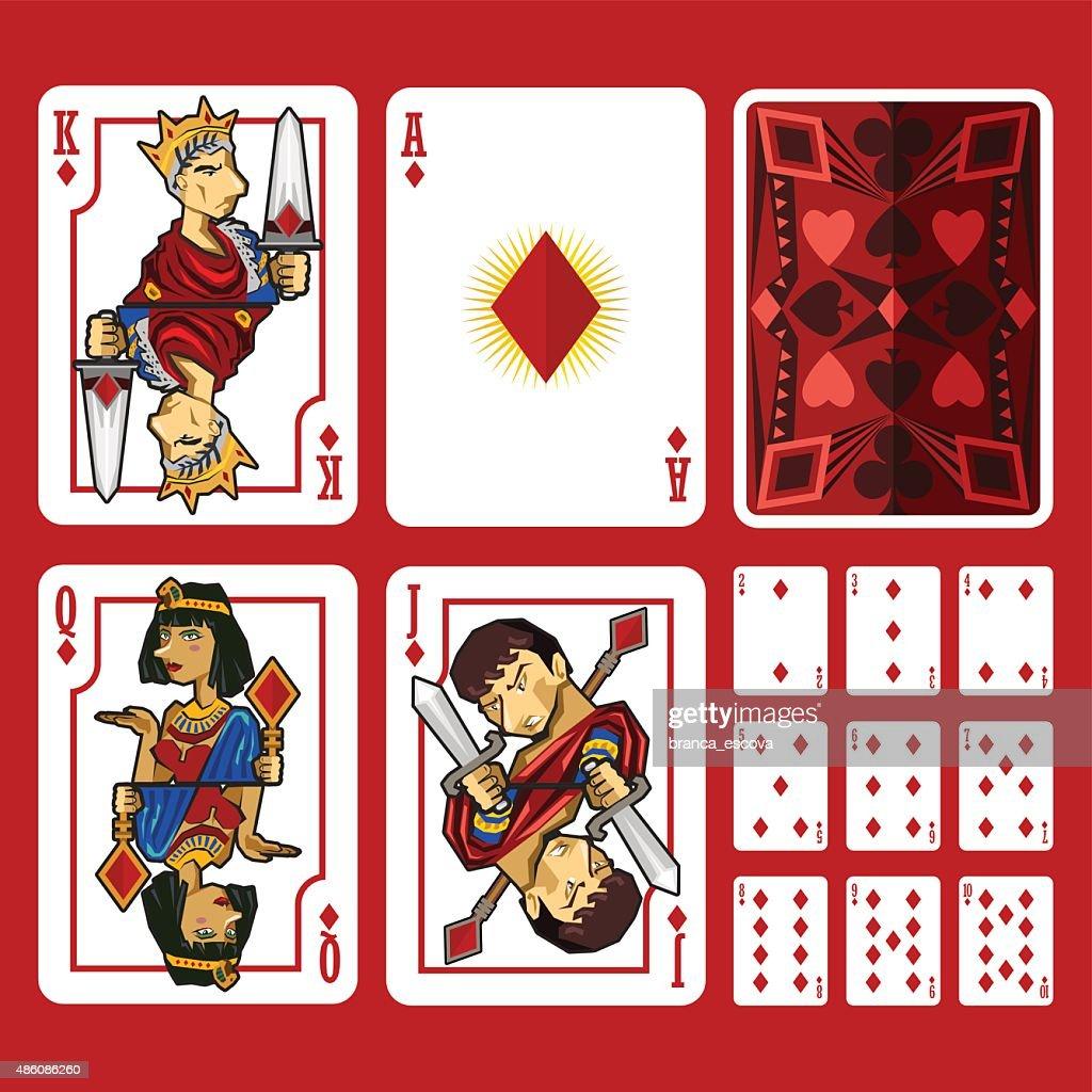 Diamond Suit Playing Cards Full Set