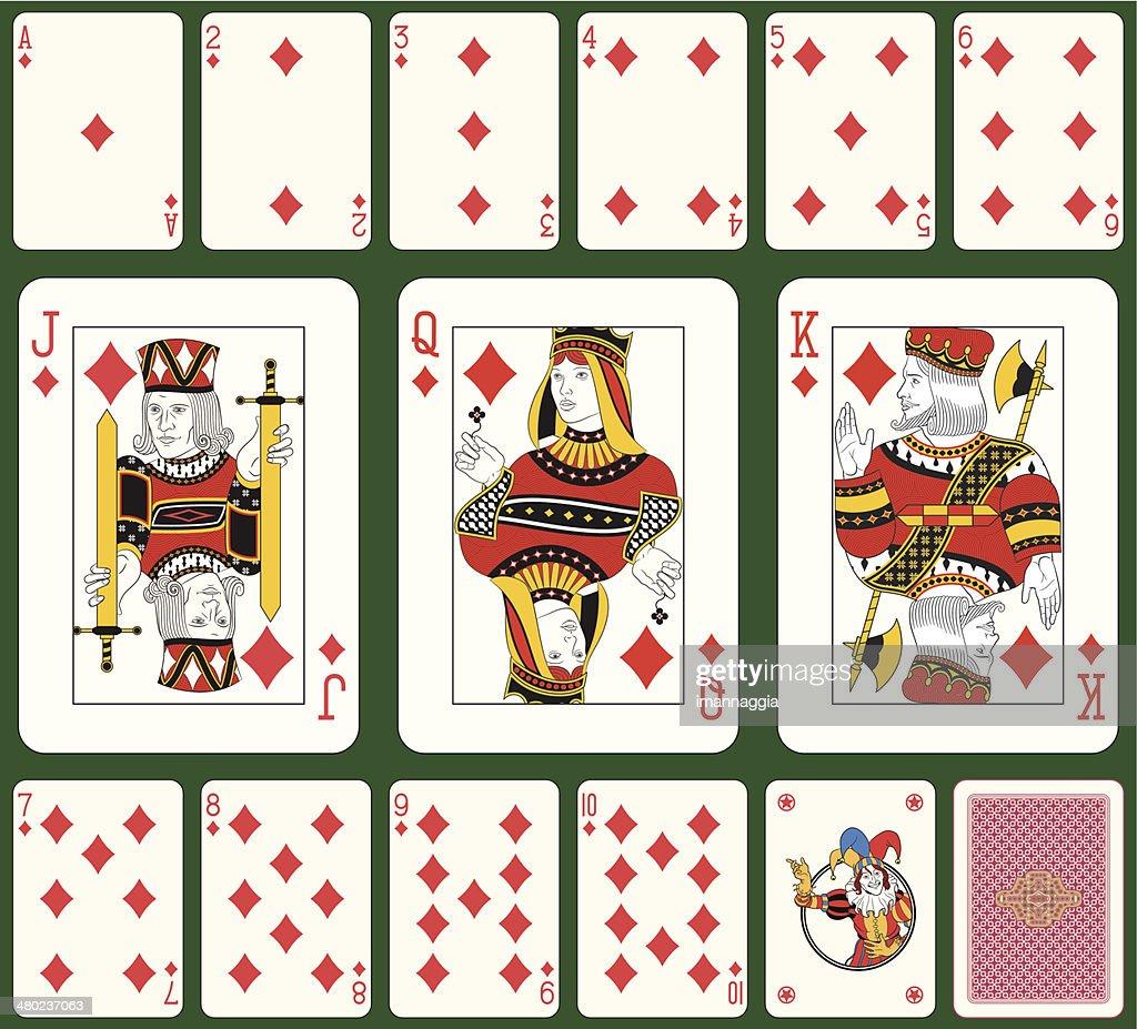Diamond suit playing cards