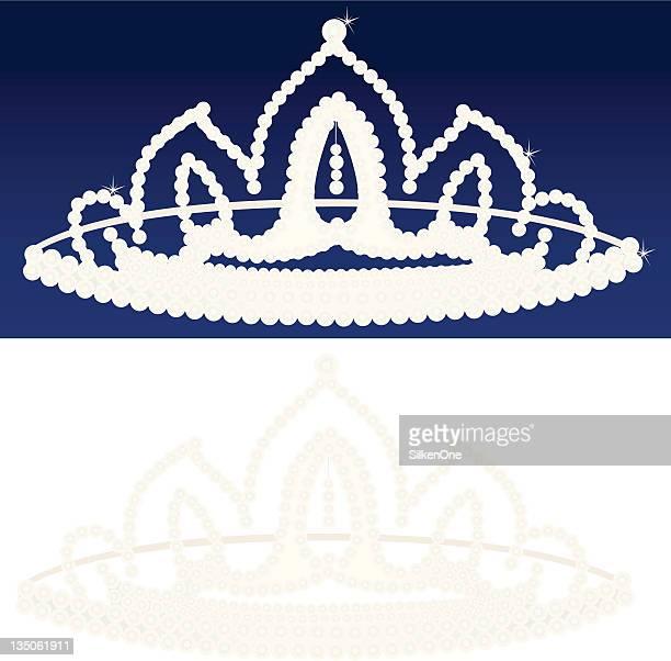 diamond tiara - tiara stock illustrations, clip art, cartoons, & icons