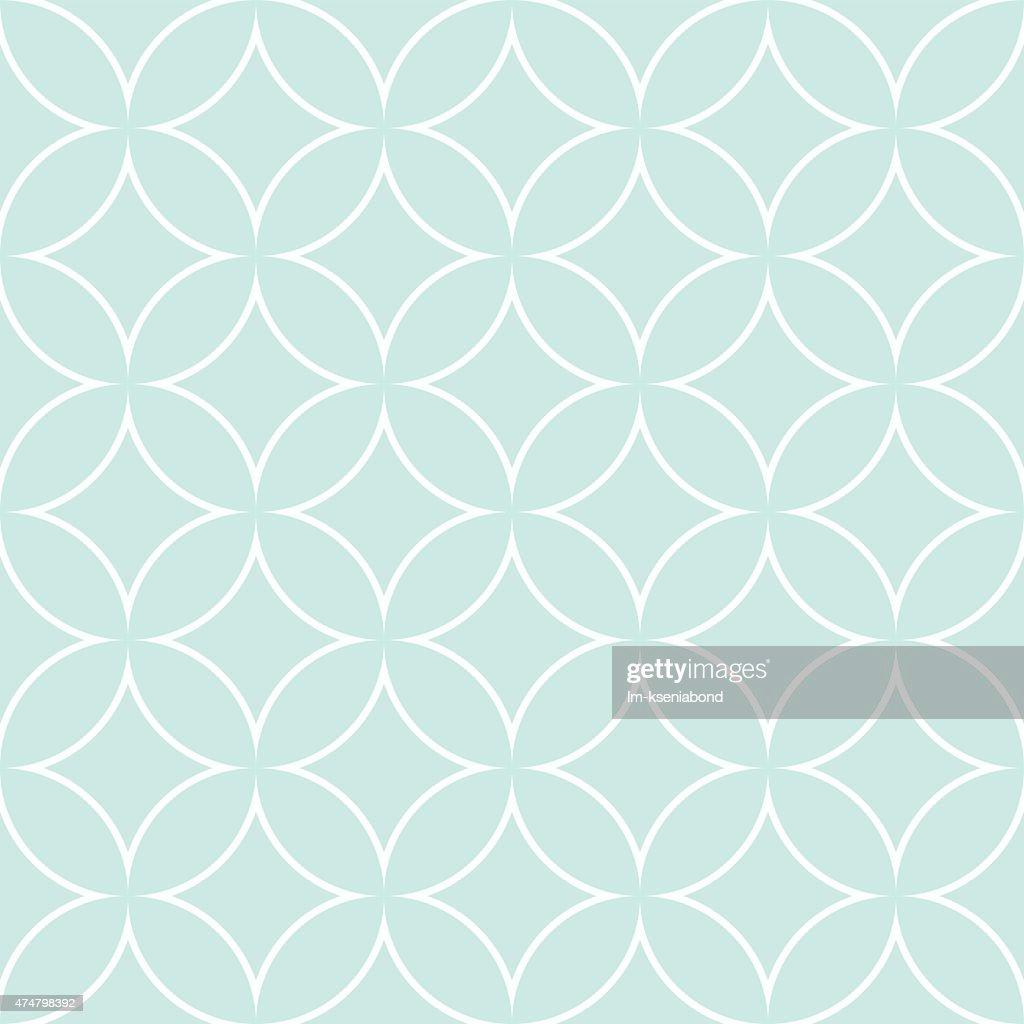 diamonds and circles pattern petals