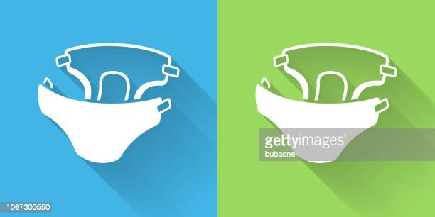 Diaper Icon with Long Shadow