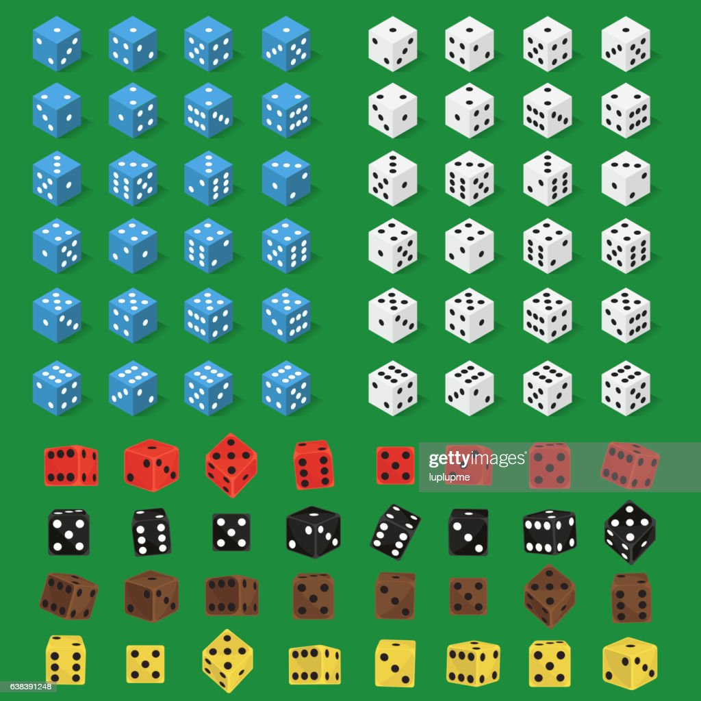 Dice bone isolated vector illustration.