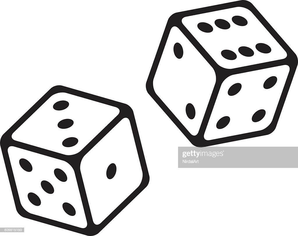 Dice Cubes Vector Icon