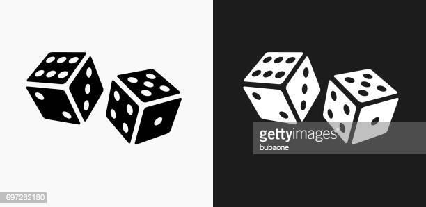 ilustrações, clipart, desenhos animados e ícones de ícone de dados em branco e preto vector backgrounds - carta de baralho jogo de lazer