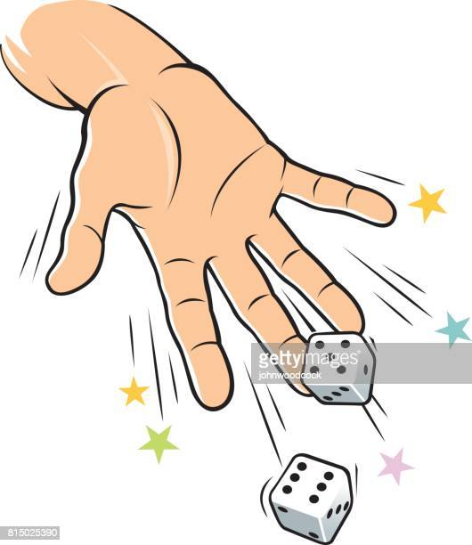 Dice throwing vector illustration