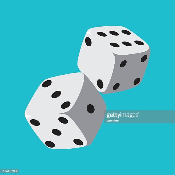 stockillustraties, clipart, cartoons en iconen met dice - chance