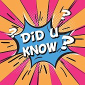 Did you know  in comic speech bubble, pop art style