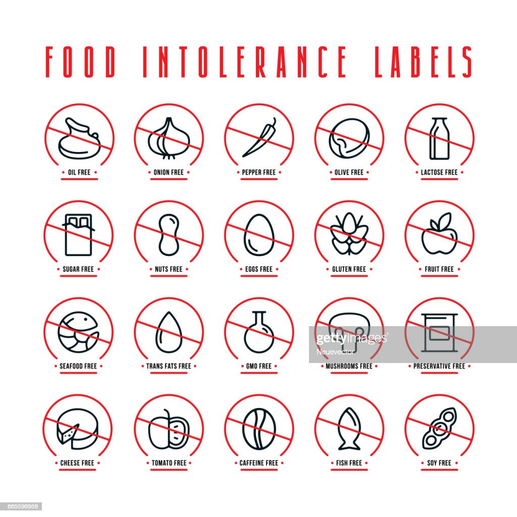 Diet and food intolerance labels