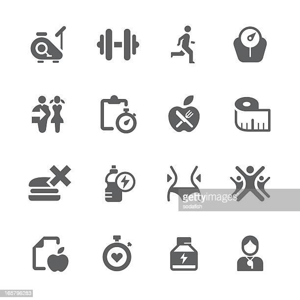 diet, health and exercise icons | prime series