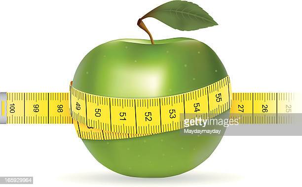 dieting weight loss - letrac stock illustrations
