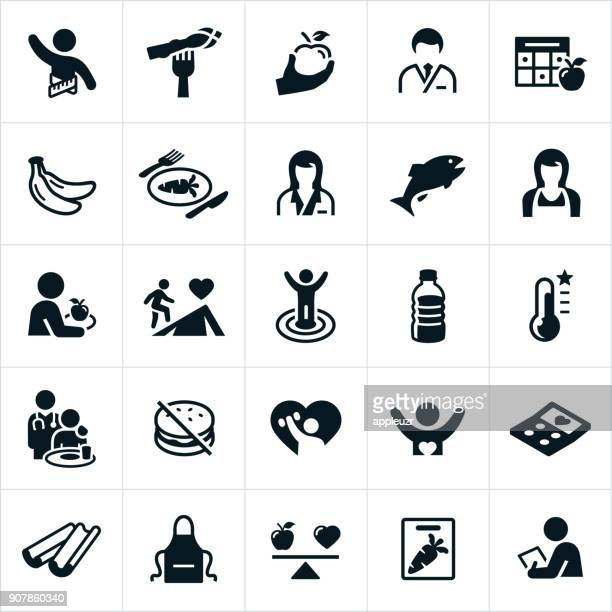 dietitian icons - dieting stock illustrations, clip art, cartoons, & icons