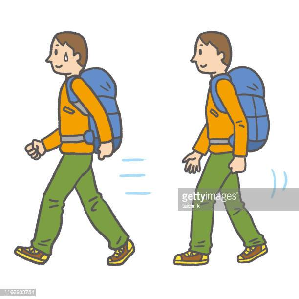 difference in walking speed - racewalking stock illustrations, clip art, cartoons, & icons
