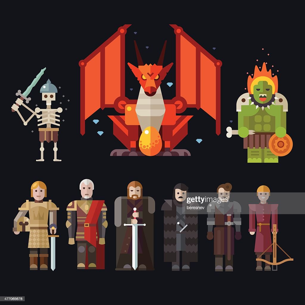 Different characters for the game
