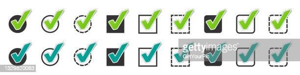 different checkbox icon set vector illustrations