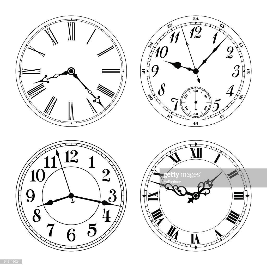 Different clock faces
