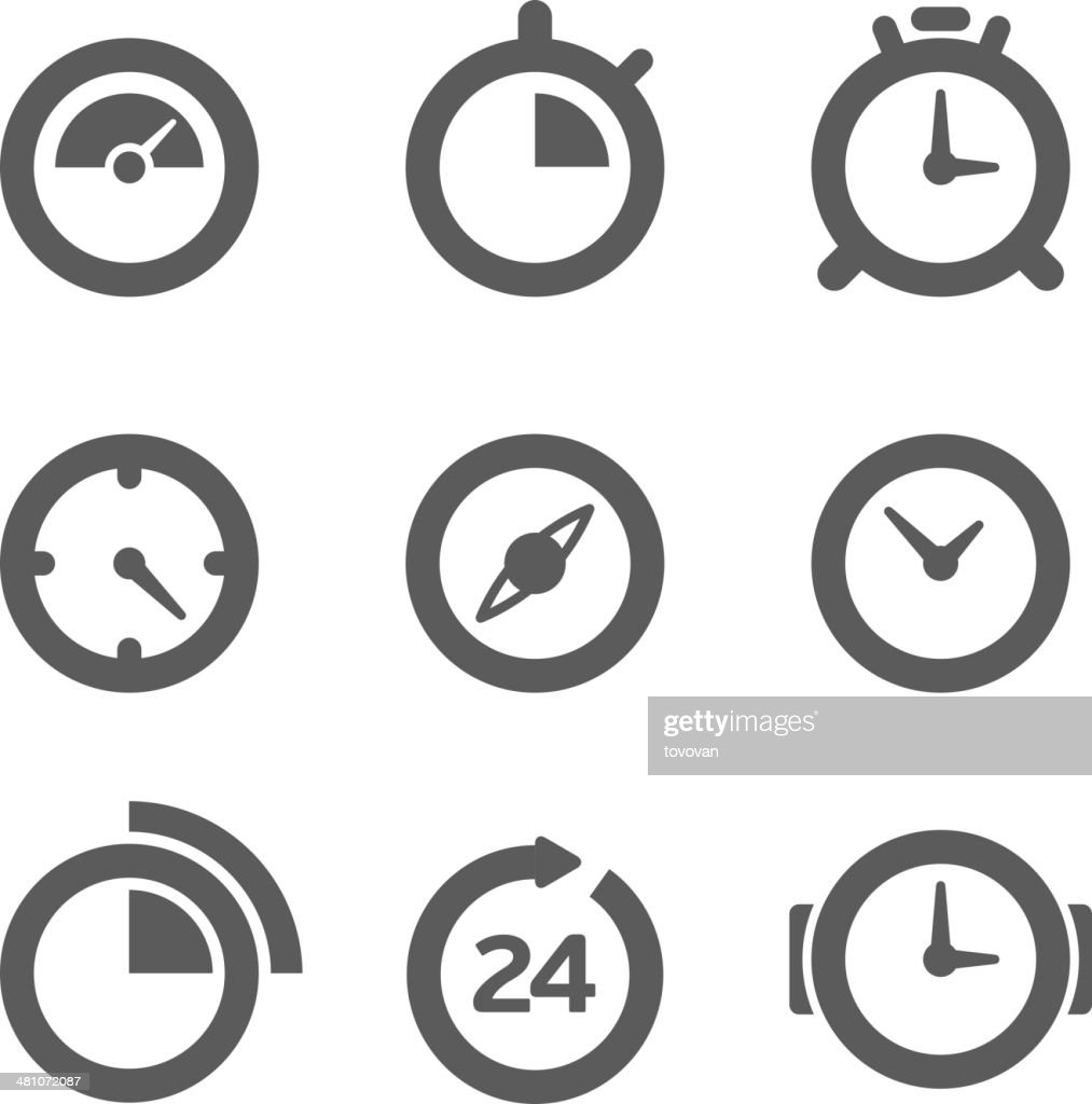 Different clocks collection isolated on white