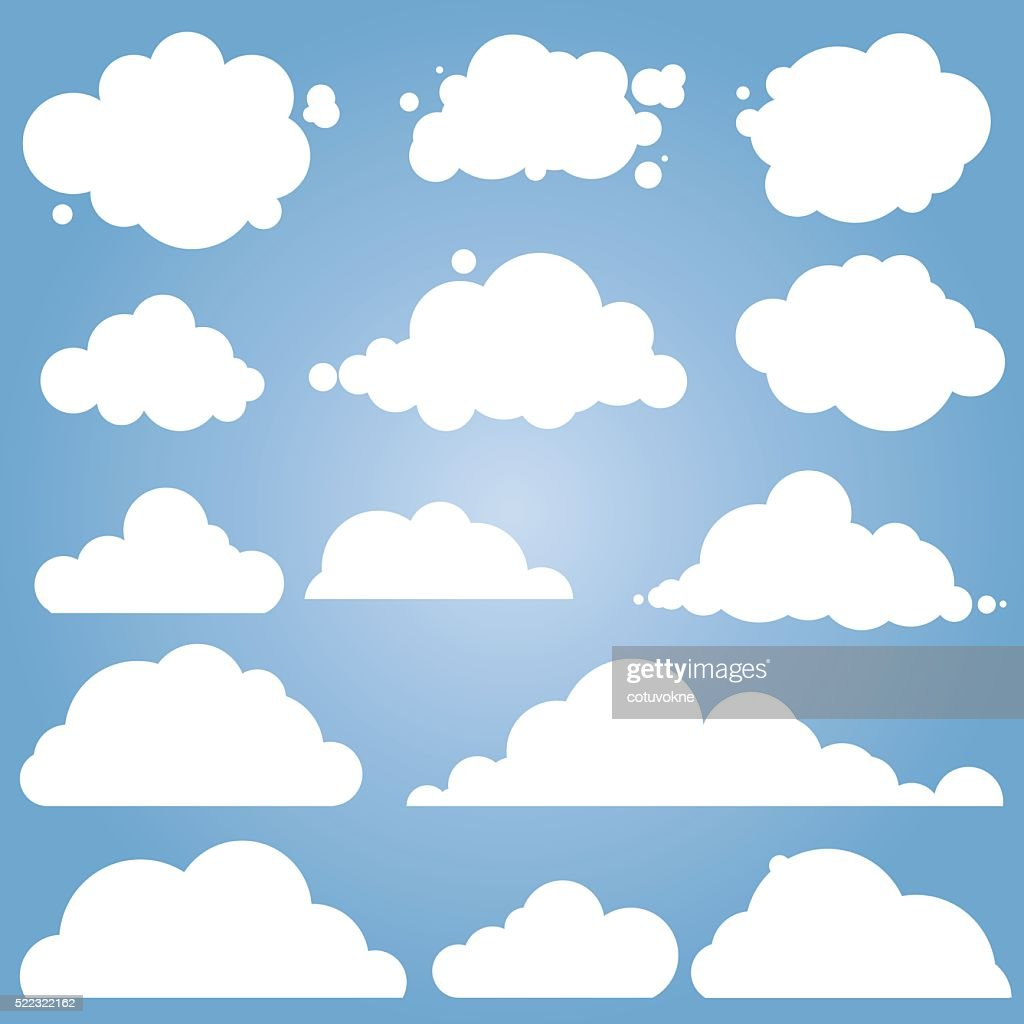 different cloud vector set