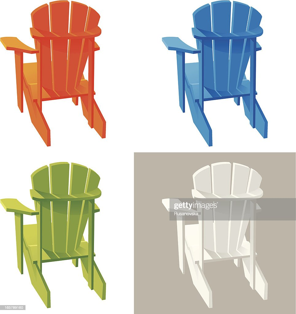 Different color Muskoka Adirondack armchairs