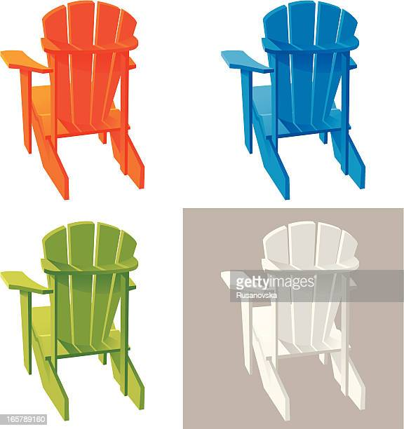 Different color Muskoka Adirondack armchairs