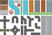 Different constructions of roads and pavement