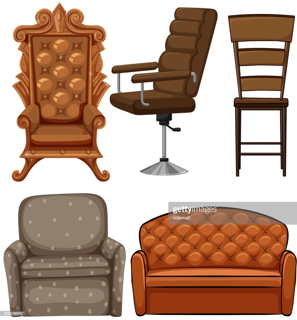 Different design of chairs