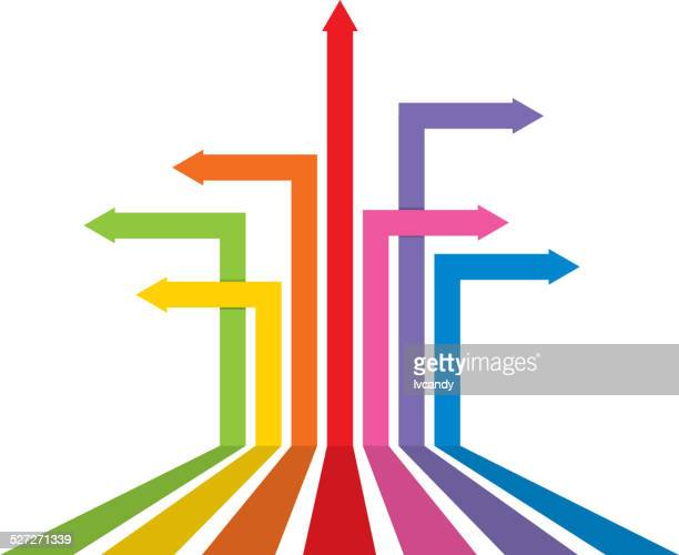 Different direction arrows