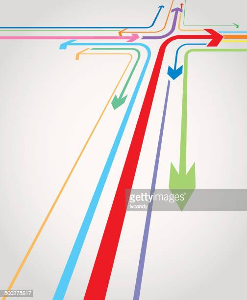different direction - road intersection stock illustrations