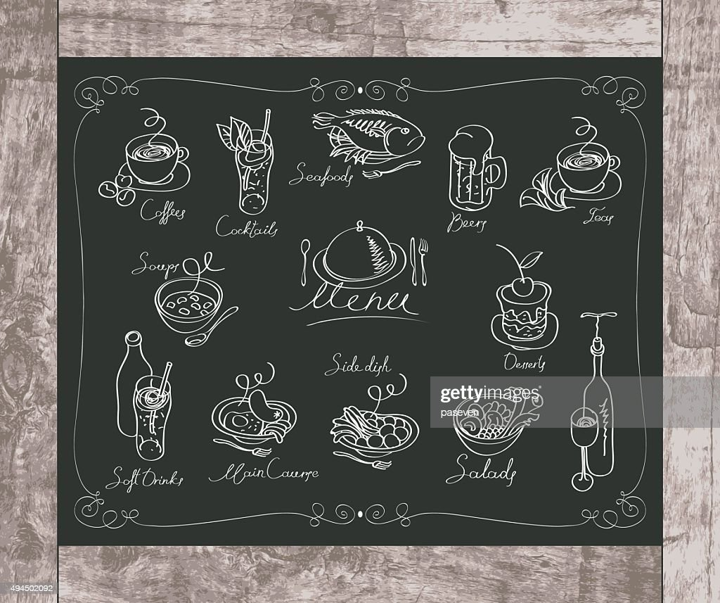 different dishes menu