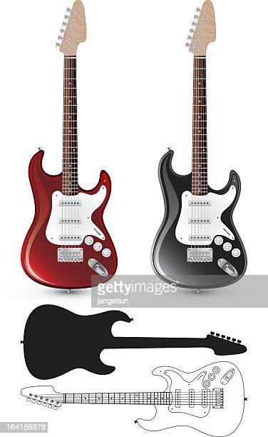 エレキギター - ベースギター点のイラスト素材/クリップアート素材/マンガ素材/アイコン素材